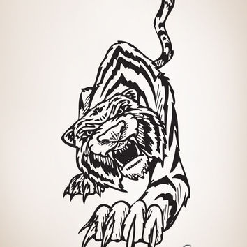 Vinyl Wall Decal Sticker Tiger Claw #403