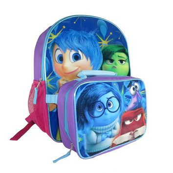 Disney / Pixar Inside Out Backpack & Lunch Bag Set - Kids (Purple)