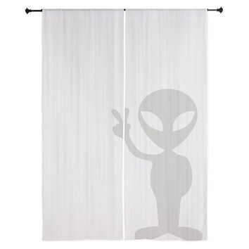 "Alien Spy 84"" Curtains on CafePress.com"
