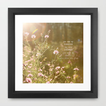 You Are My Sunshine Framed Art Print by Christine Hall