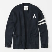 girls logo varsity cardigan | girls tops | Abercrombie.com