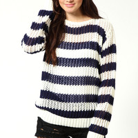 Phoebe Striped Loose Knit Jumper