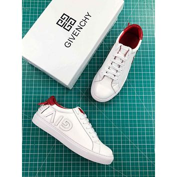 Givenchy Reverse Letters Low Top Sneaker White Red