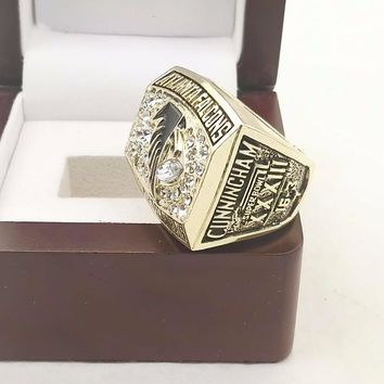 Drop Shipping Good Quality N.F.C 1998 ATLANTA FALCONS Championship Ring For Men's Fashion Jewelry with Wooden Boxes
