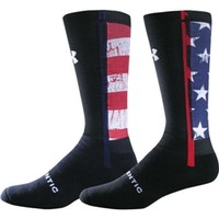 Under Armour Stars and Stripes Crew Sock (Black)