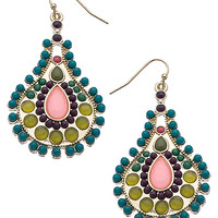 Roberta Chiarella Multi Color Turquoise Paisley Pear Earrings - Max & Chloe