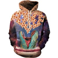 3D Dinosaur Pattern Womens Sweatshirt Hoodies