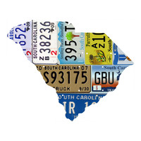 South Carolina License Plate wall decal