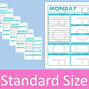 Daily Planner Printable, Daily Planner Pages, Daily Planner Inserts, Weekly Planner Printable, Daily Schedule, To Do List, Arc Planner Pages