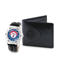 Texas Rangers MLB Men's Watch & Wallet Set