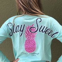 "Simply Southern ""Stay Sweet"" Shorty - Teal"