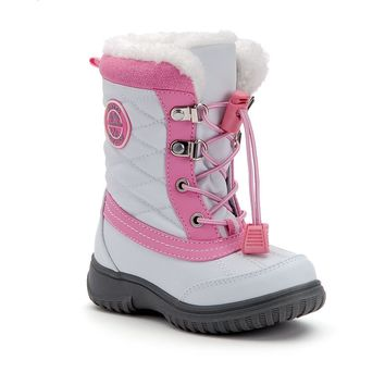 Totes Jodi Toddler Girls' Winter Boots (White)