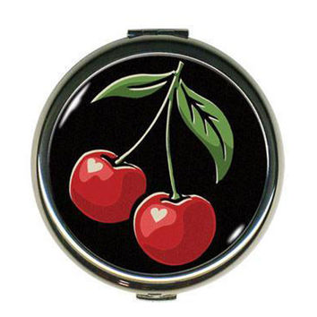 Cherries Compact Mirror