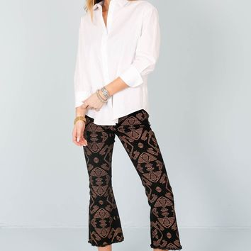 SCOTCH & SODA | Cropped Kick Pants - Black Print