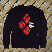Diamond Harley Quinn Batman sweatshirt