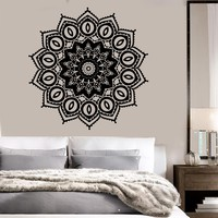 Vinyl Wall Decal Mandala Buddhism Hinduism Bedroom Decor Stickers Unique Gift (ig3554)