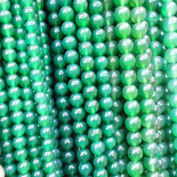 Fashion Green Beads Jade Natural Stone Loose Round Spacer Beads DIY Bracelets &Necklace Jewelry Women Men Gifts 6mmDia.20PCs