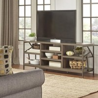 TRIBECCA HOME Lincoln Metal Accent Storage Media Console Sofa Table TV Stand - Walmart.com
