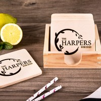 Personalized Coasters - Wedding Gift For The Couple