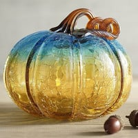 Glass Pumpkins - Amber & Turquoise