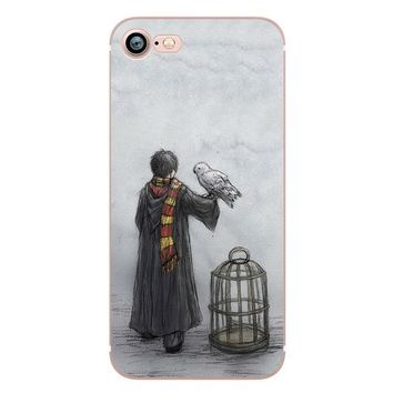 Harry Potter Art Design Soft Silicone Cases for iPhone