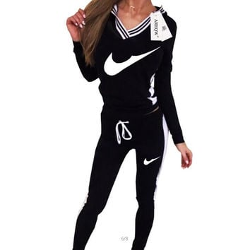 Women Sport Suit Hoodie Sweatshirt+Pant Jogging Femme Marque Survetement Sportswear 2pc Set 2 Color S-XL Brand Tracksuit