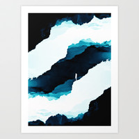 Teal Isolation Art Print by Stoian Hitrov - Sto