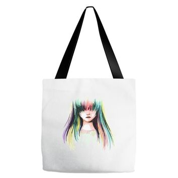 color girl Tote Bags