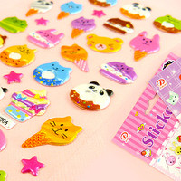 Buy Kawaii Animal Desserts Sponge Stickers at Tofu Cute