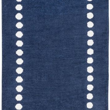 Surya Abigail ABI9076 Blue/Neutral Solids and Borders Area Rug