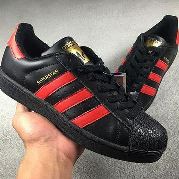 LMFON6GS Adidas Superstar W Shell-toe Men Women Black White Flats Sneakers Causel Sport Shoes