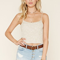Marled Cropped Cami | Forever 21 - 2000171007