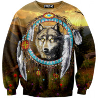 ☮♡ Wolf Dream Catcher Sweater ✞☆