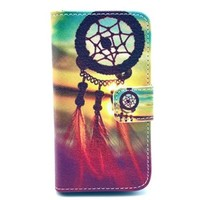 "Dream Catcher pattern Fashion PU Leather Wallet Flip Protective Skin Case with Stand with Credit Card Slots Holder For Iphone4/4S Case (Package includes: 1 X Screen Protector and Stylus Pen image""Gift_Source"")"