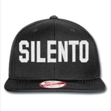 silento Embroidery - New Era Flat Bill Snapback Cap