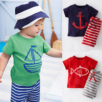 Baby Boy Clothing Set Children Sport Suits 100% Cotton