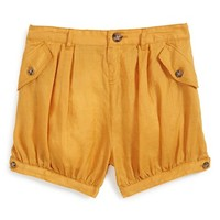 Toddler Girl's Burberry Gathered Cotton Shorts,