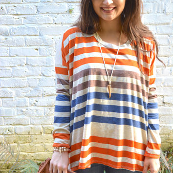 Lazy moments stripes top