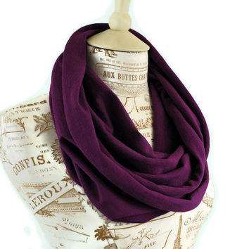Spring Infinity Scarf Plum Purple Eggplant by ForgottenCotton