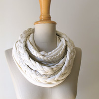 braided LOOP in vanilla creme infinity scarf