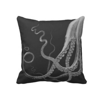 Octopus Triptych Pillow from Zazzle.com