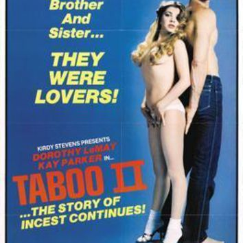 Taboo Pt 2 Movie poster Metal Sign Wall Art 8in x 12in