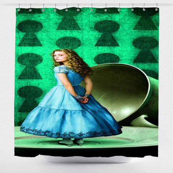 Alice in Wonderland Movie For Custom Shower Curtain *