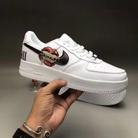 """Nike Air Force 1"" Unisex Sport Casual Fashion Classic Graffiti Leather Low Help Plate Shoes Couple Thick Bottom Sneakers"