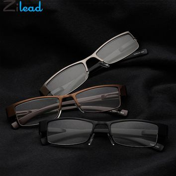 Zilead Half Frame Reading Glasses Business Women&Men Reading Glasses Metal Presbyopic Glasses Eyewear1.0 1.5 2.0 2.0 3.0 3.5 4.0