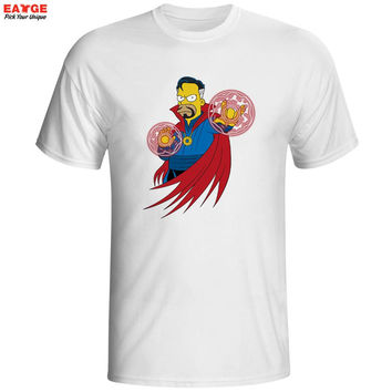 Simpsons parody Homer as Doctor Dr. Strange Mystery Movie comic tee t-shirt hwd