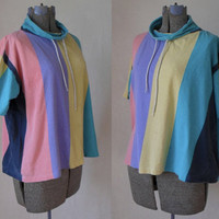 90's Oversized Slouchy Top // Bathing Suit Cover Up Shirt // Pool Party Beach Wear Club Kid // by Miss Oops California Size Large