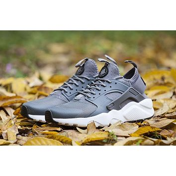 Best Online Sale Nike Air Huarache 4 Run Rainbow Ultra Breathe Women Men Grey Running
