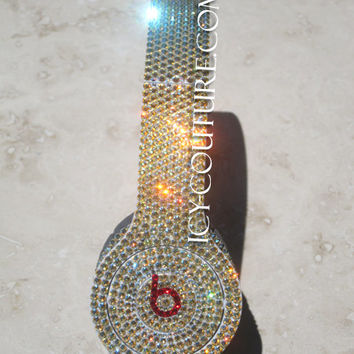 CRYSTAL GOLD Bling BEATS by Dre with Swarovski Crystals