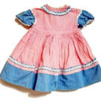 Madame Alexander Looby Loo Doll Dress Pink Blue White Polka Dot